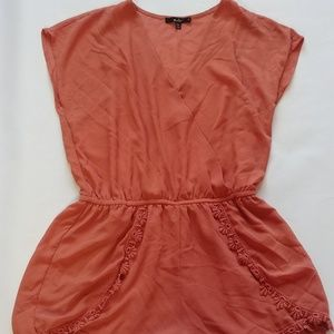 Gorgeous Romper with Lace Detail Size Large
